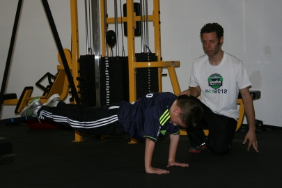 Tonight we focused on core strength, glute activation, and form drills. He's getting better and better!